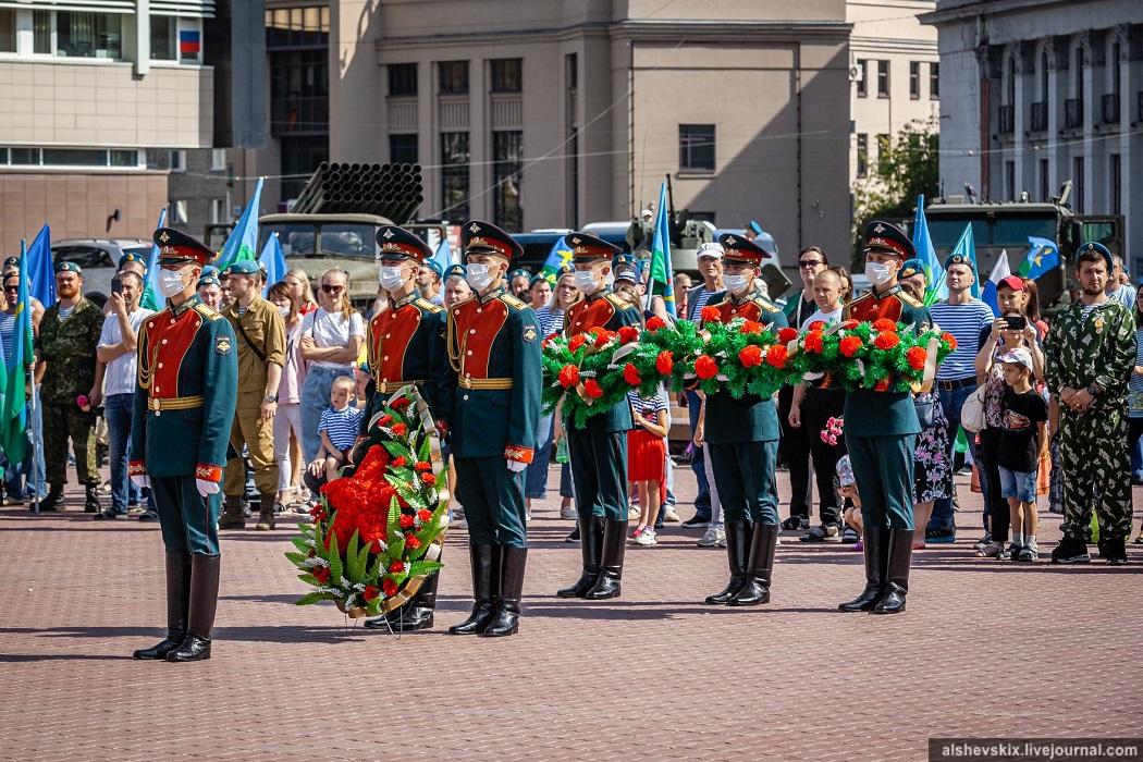 В Екатеринбурге, несмотря на пандемию, отметили 90-летие ВДВ