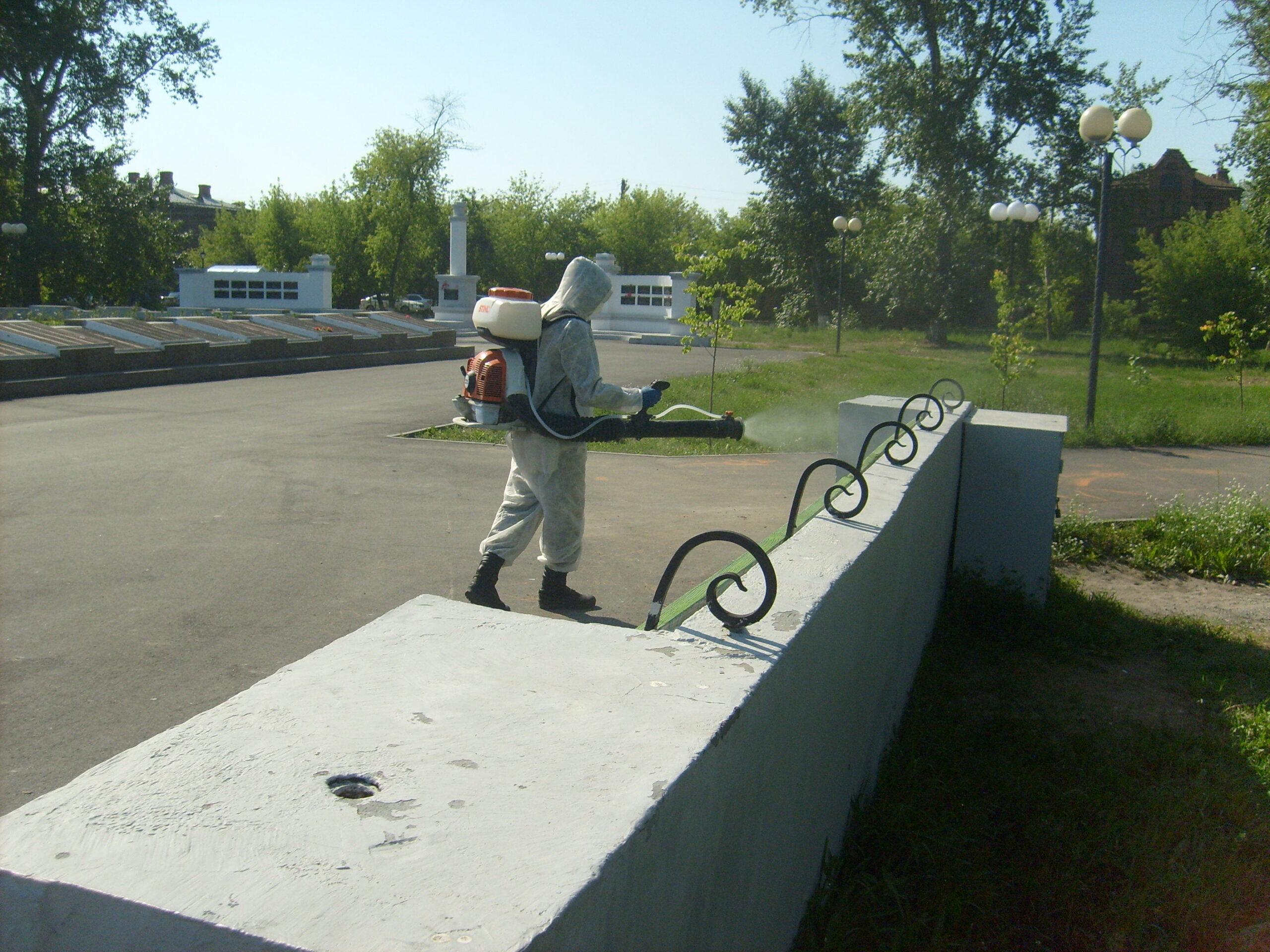 В Шадринске дезинфицируют общественные места