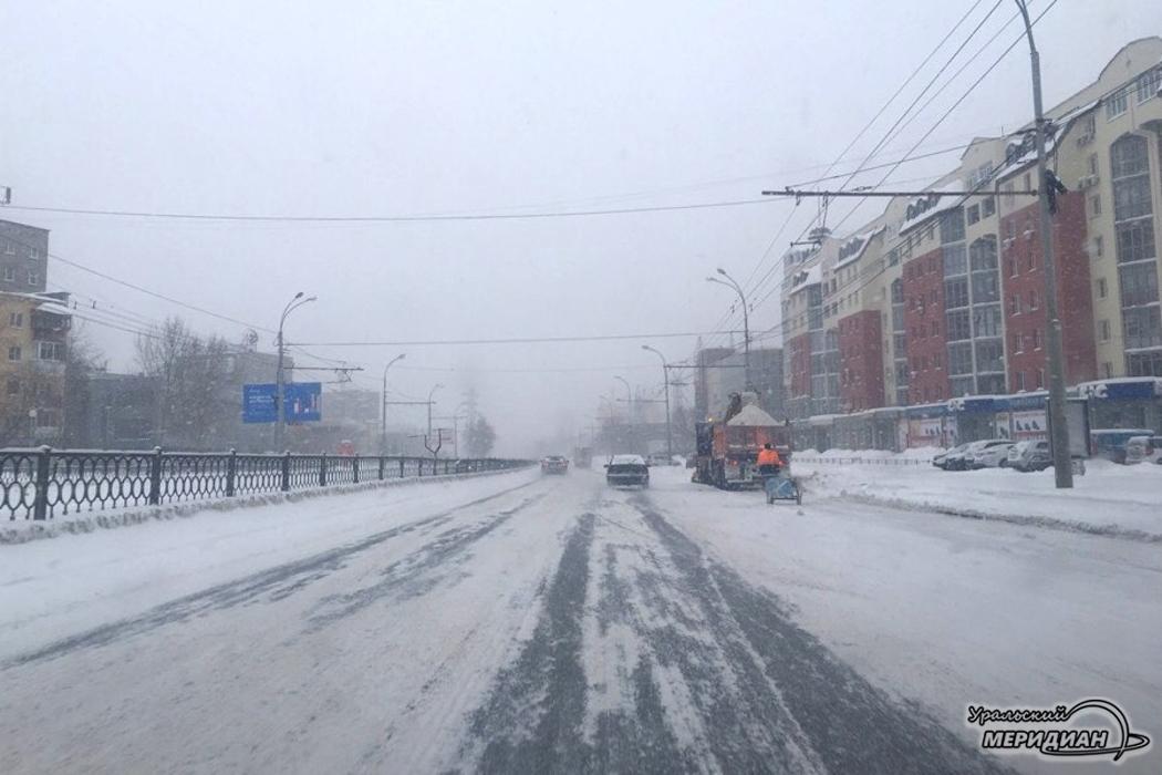Уборка снега в городе Екатеринбург
