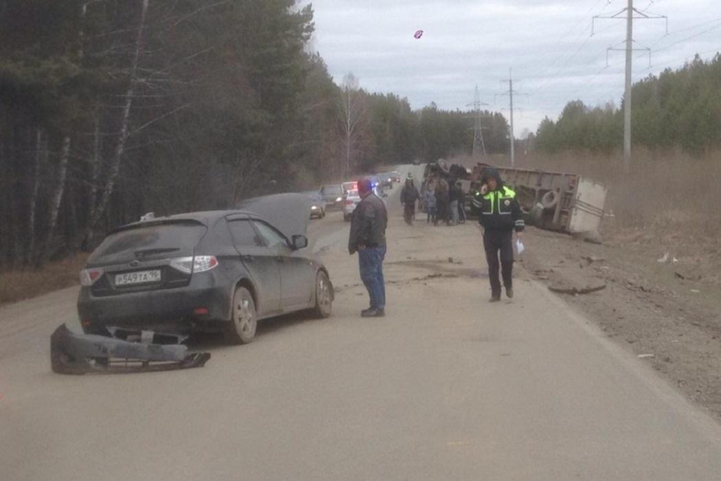 Под Екатеринбургом в ДТП с грузовиком пострадал полуторагодовалый ребенок