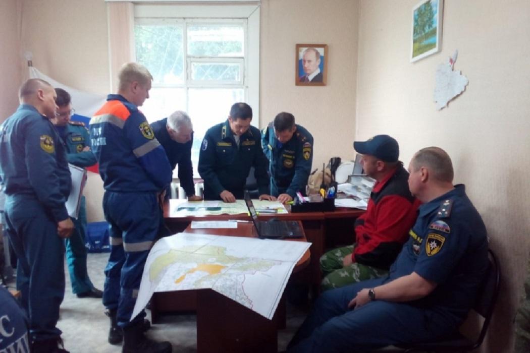 Штаб пожаротушения в Кетовском районе