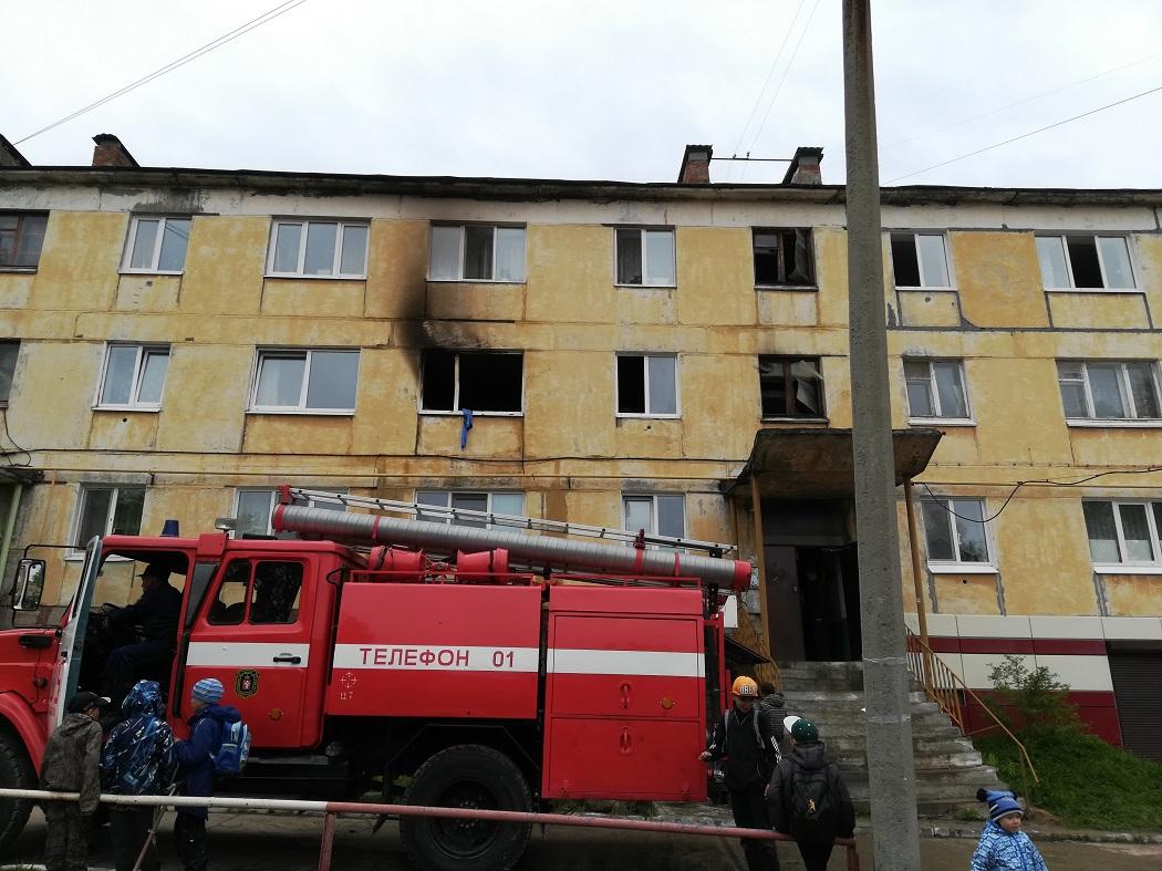 горела квартира на 2 этаже пожар мчс