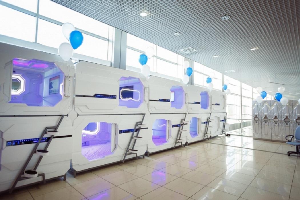 В екатеринбургском аэропорту «Кольцово» открылся капсульный отель