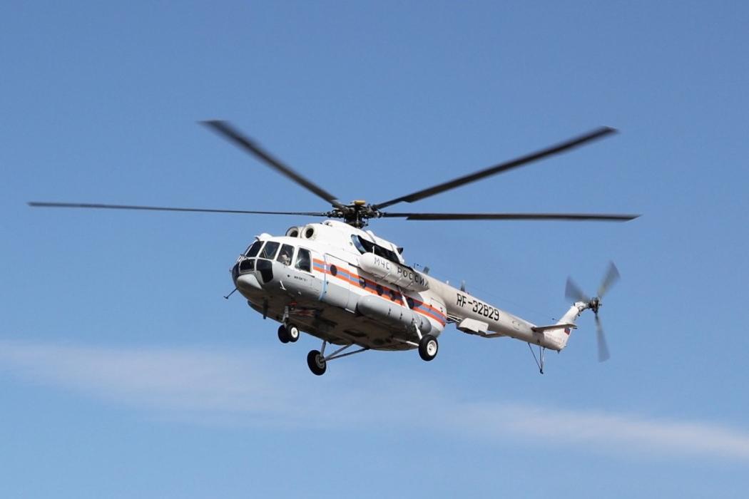 МЧС просит курганцев сохранять спокойствие при виде вертолета МИ-8