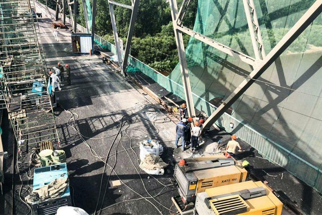 В Тюмени закрыли на ремонт старый мост на ул.Челюскинцев