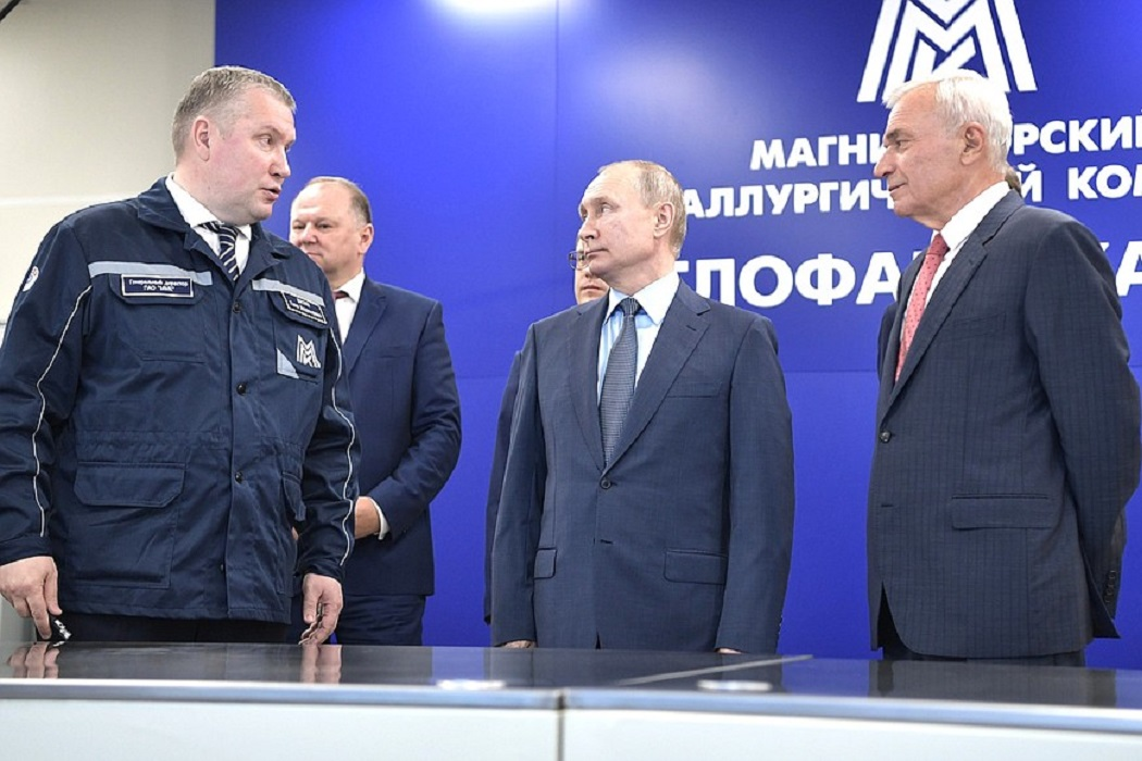 Путин запустил на Магнитогорском комбинате новую аглофабрику
