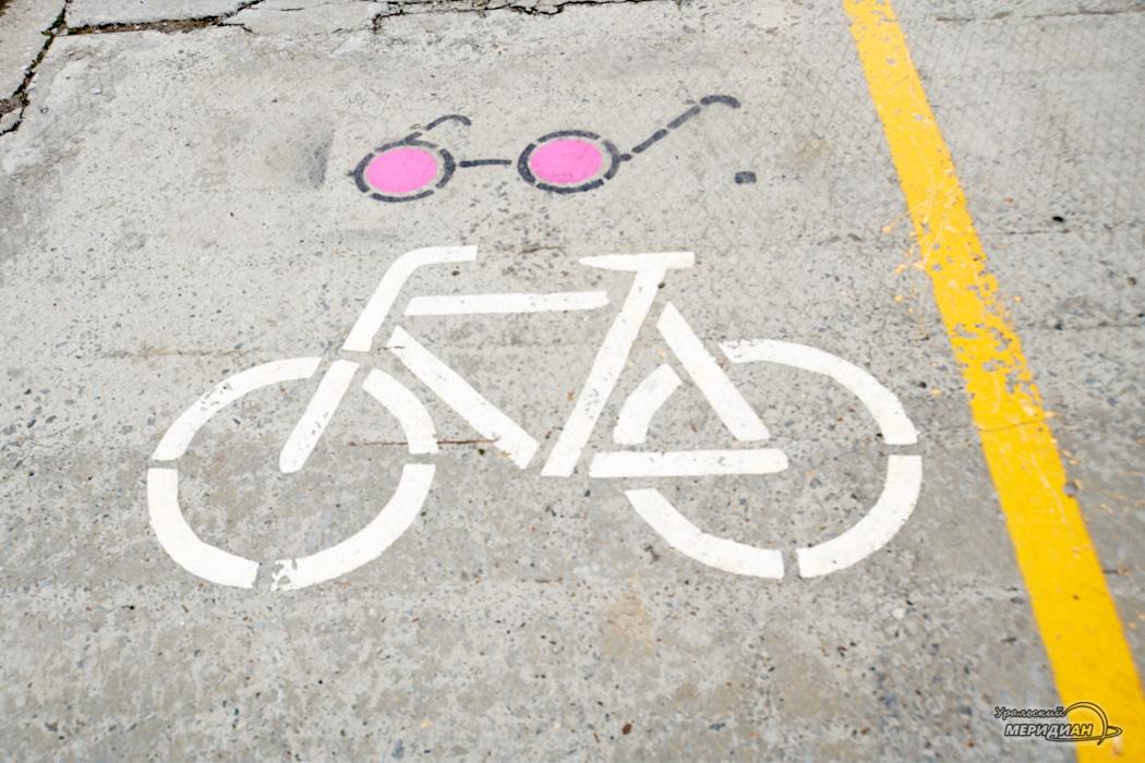 Дорожная разметка Велодорожка
