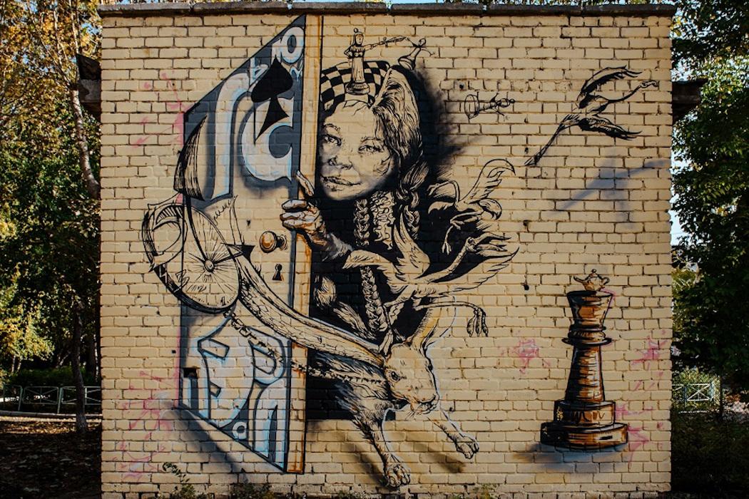 В Тюмени street art художники оживили энергообъекты СУЭНКО