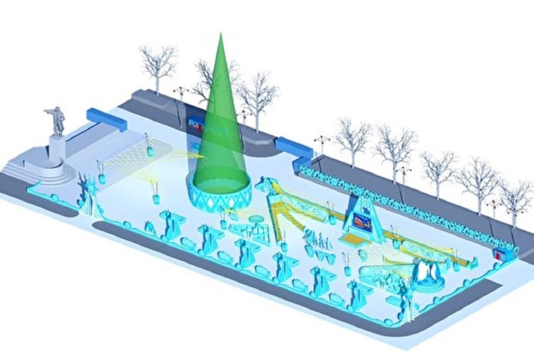 На строительство ледового городка в Екатеринбурге потратят ₽24,5 млн