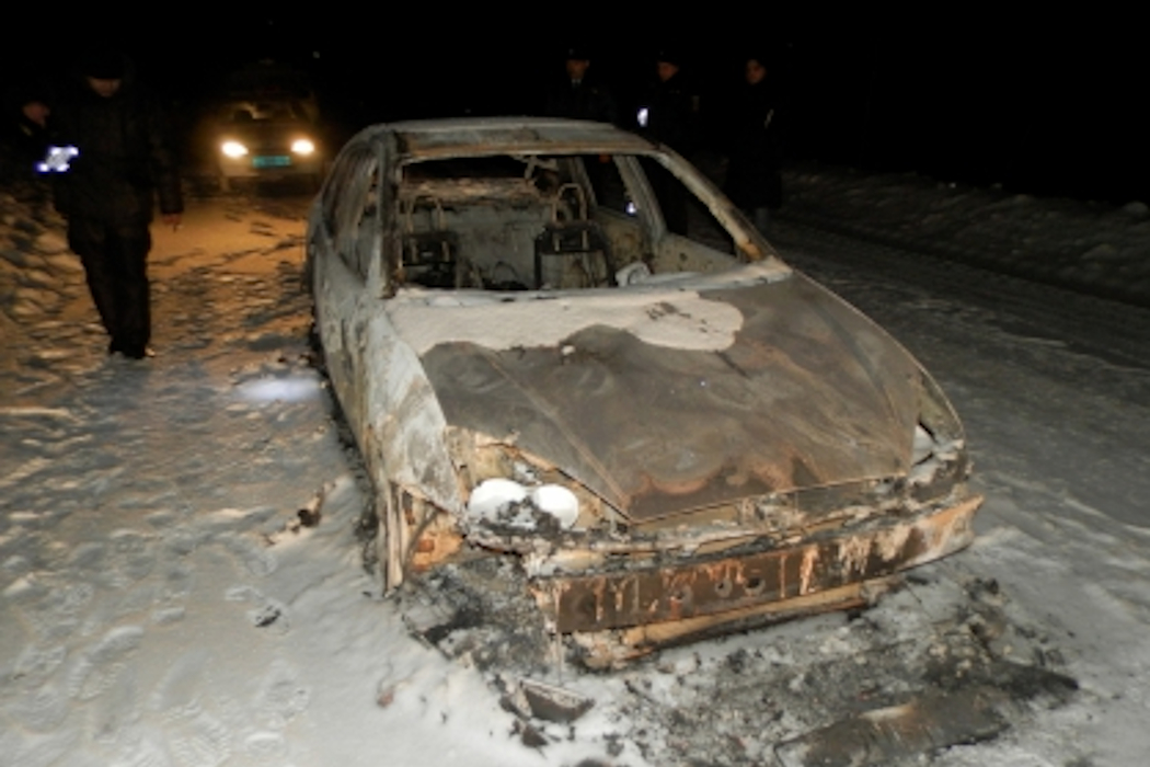 Житель Зауралья убил односельчанина и сжёг его тело в машине
