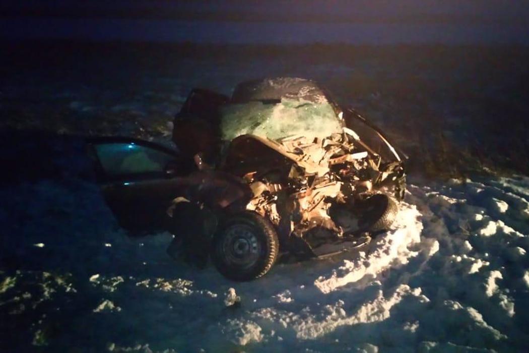 В Зауралье водитель легковушки погиб в лобовом ДТП с большегрузом