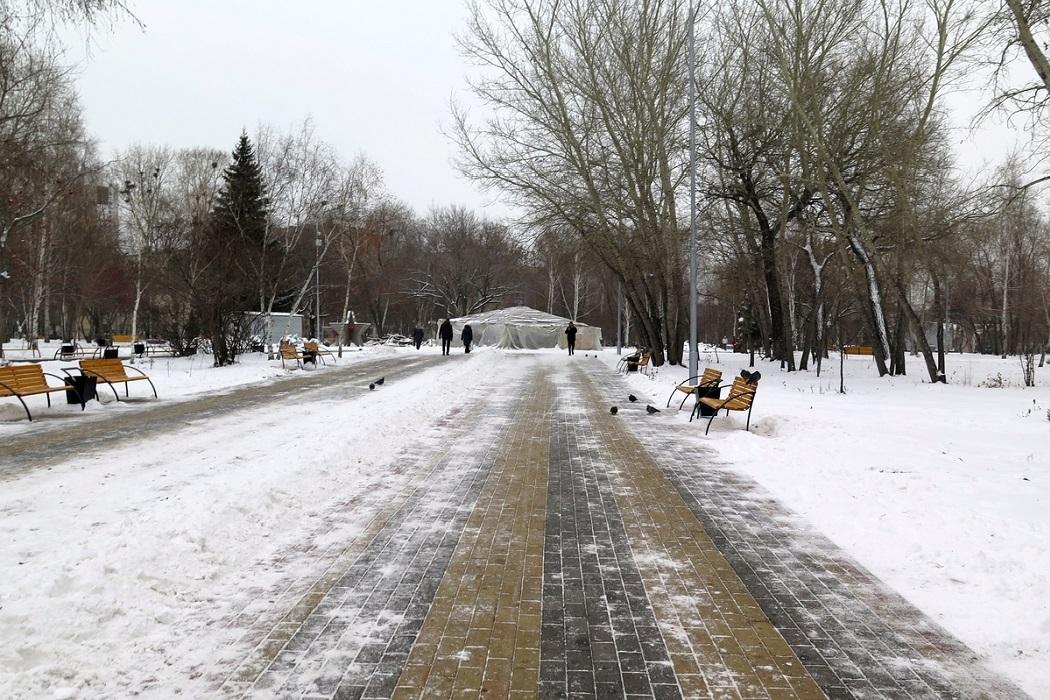 Подрядчик сорвал сроки реконструкции парка Победы в Кургане