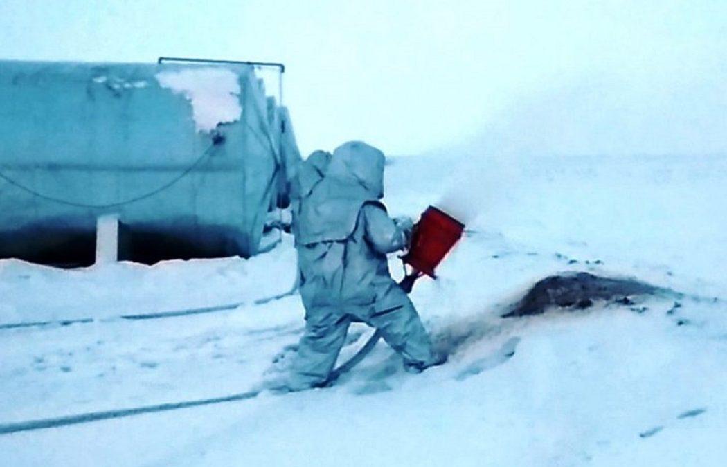 Пожарные Нового Уренгоя потушили «возгорание» сырой нефти