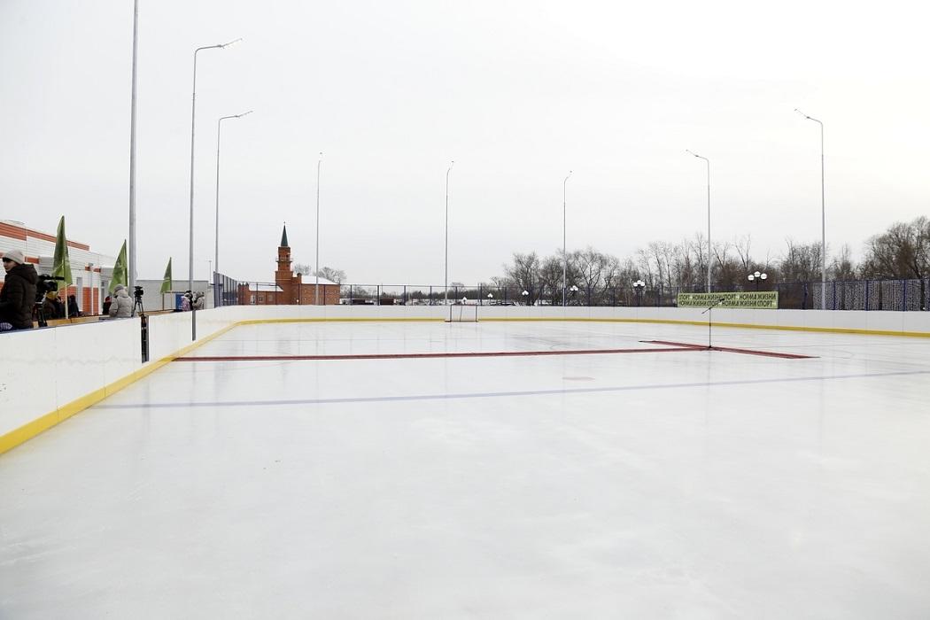 Новый хоккейный корт в парке «Молодежный» открыли в Кургане