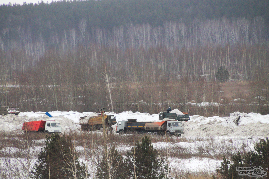 В Екатеринбурге обнаружен нелегальный снежный полигон