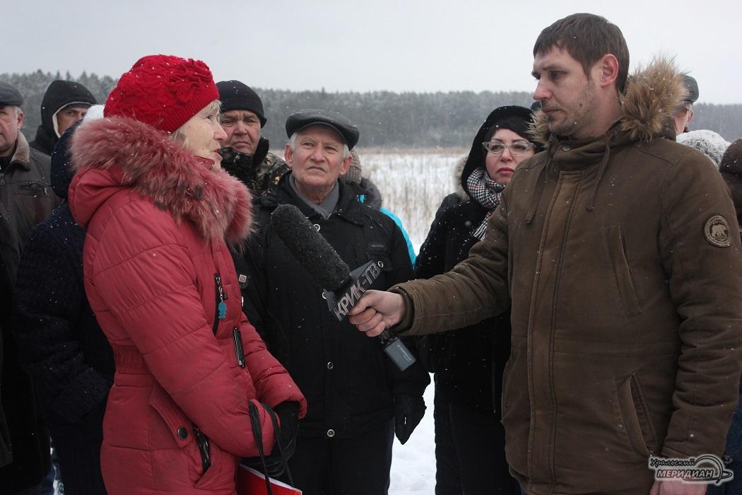 Встреча на месте строительства завода и полигона ТКО