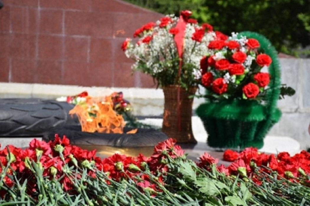 Гвоздики у памятника