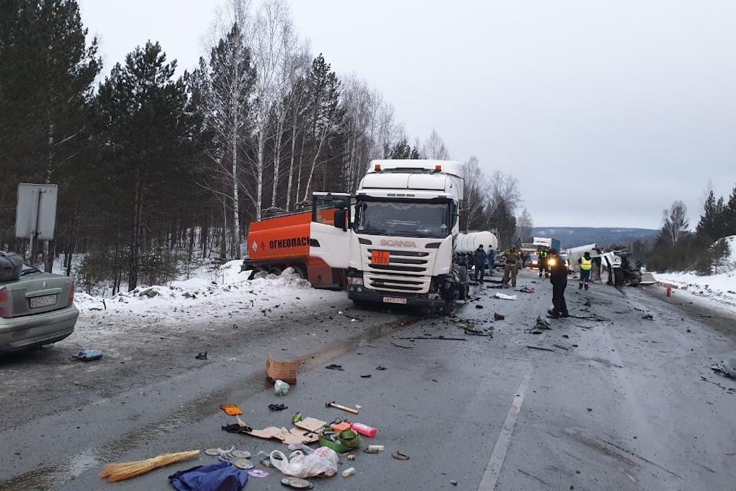 На Южном Урале ликвидированы последствия аварии на трассе М-5 «Урал»