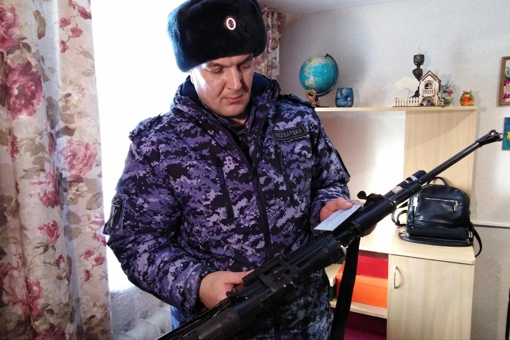 В Юргамышском районе сотрудники Росгвардии провели операцию «Ружье»