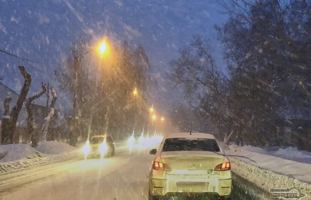 снегопад дорога погода