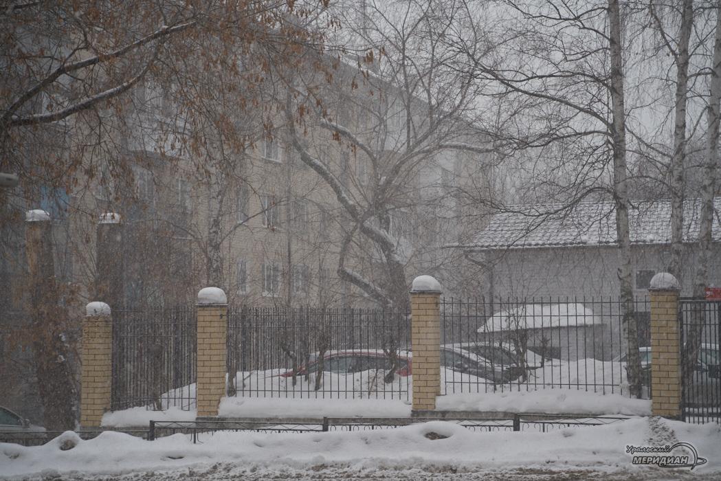 снегопад погода