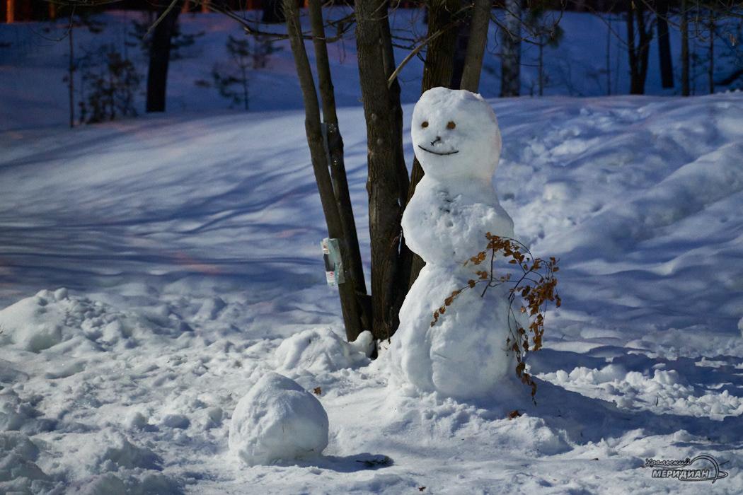 снеговик зима снег