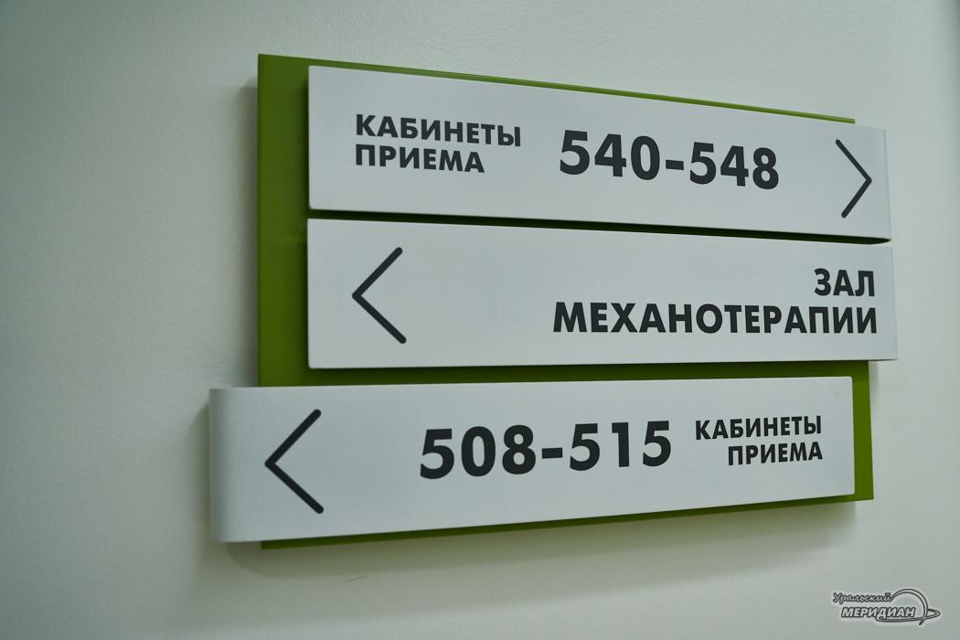 указатели кабинеты приема больница