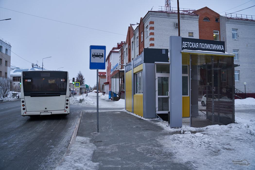 автобус теплая остановка