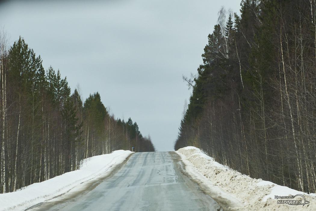дорога снег трасса