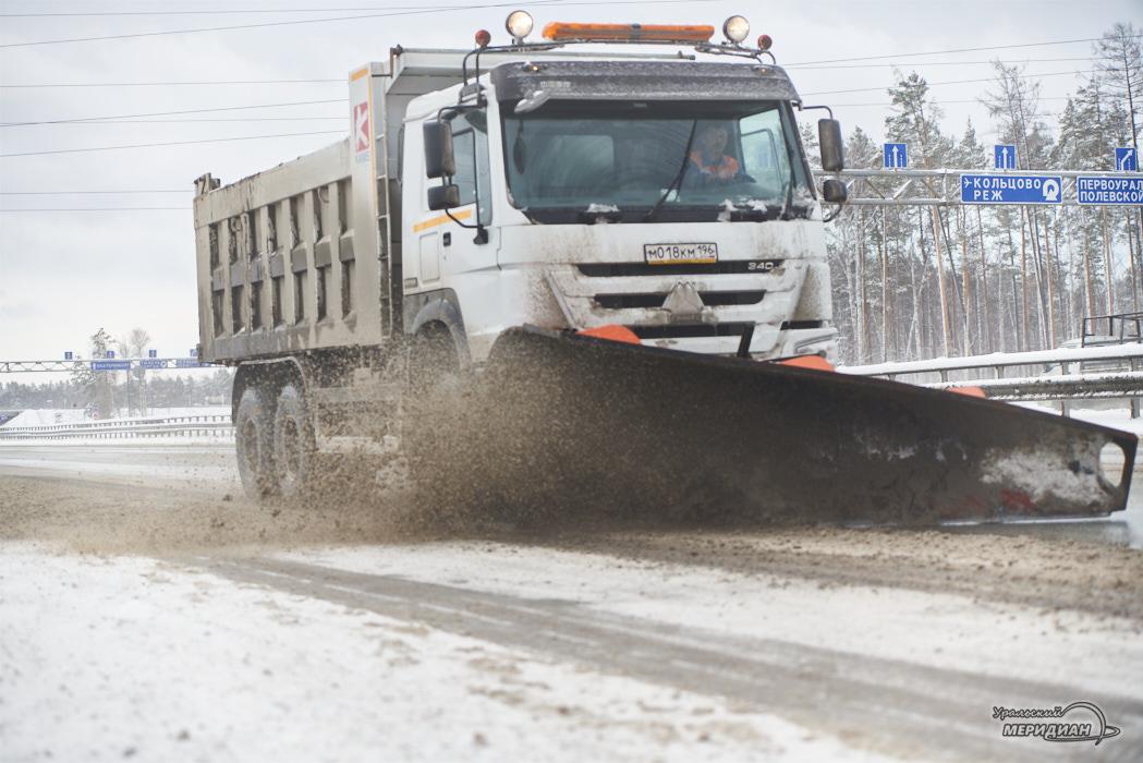 дорога трасса снегоуборочная техника уборка снега