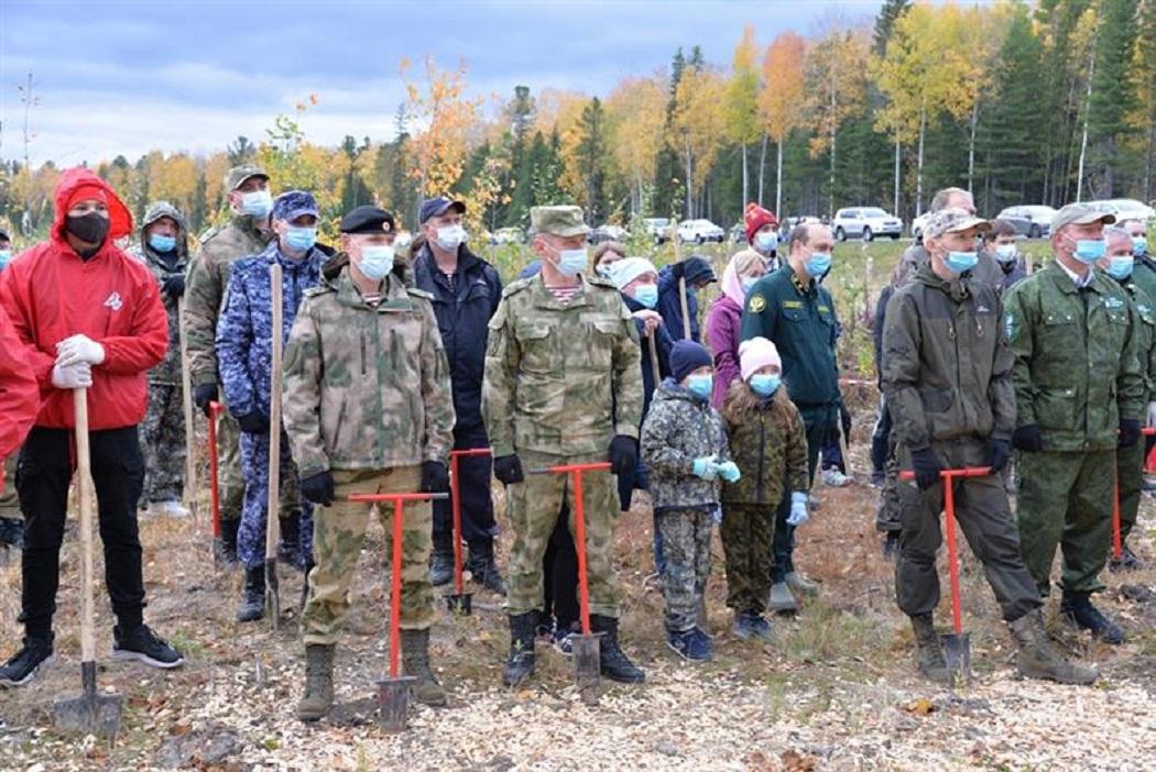 Всероссийская акция «Сохраним лес» Росгвардия Югра