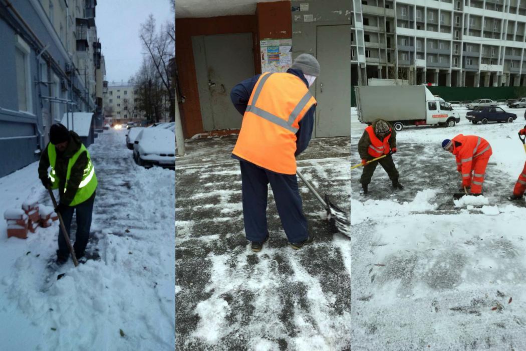 На расчистку Челябинска от снега вывели 1724 дворника