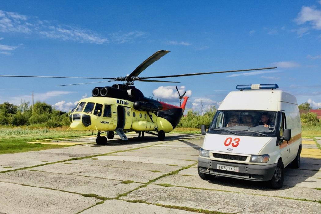 В больницы Тюменской области санавиацией доставили 46 пациентов