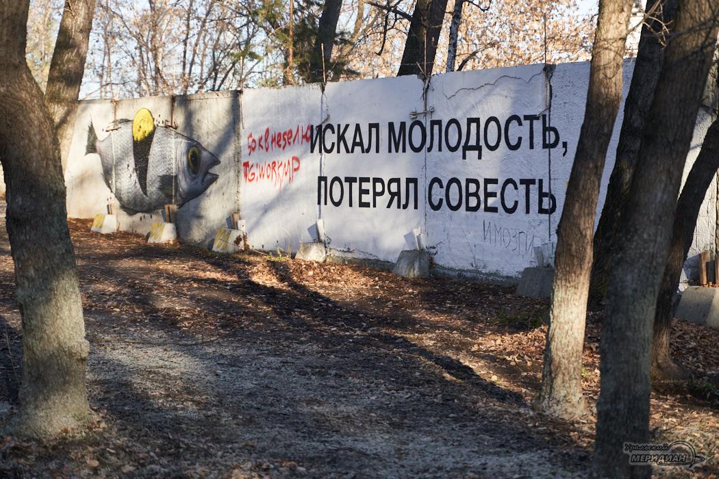 Парк Зеленая Роща Екатеринбург граффити арт