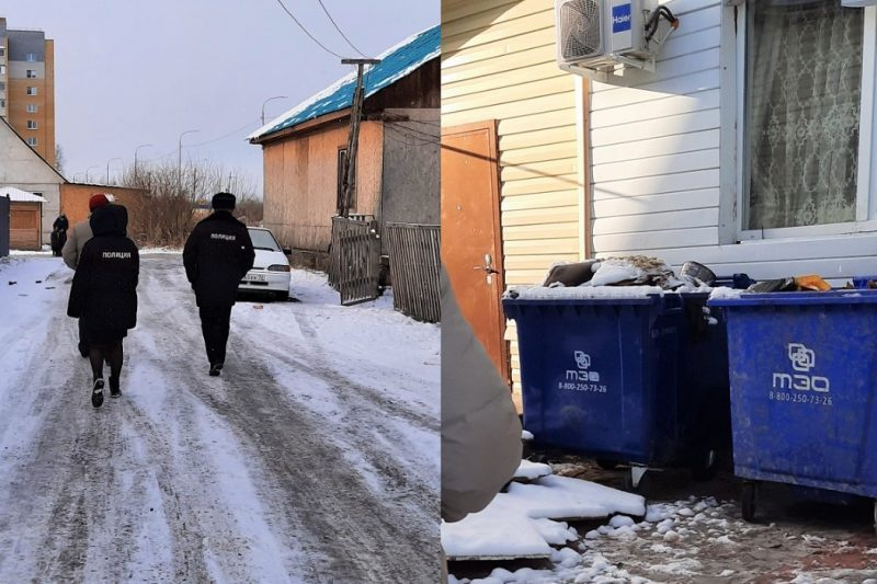 тюменцы украли мусорные контейнеры, чтобы поставить в частном дворе