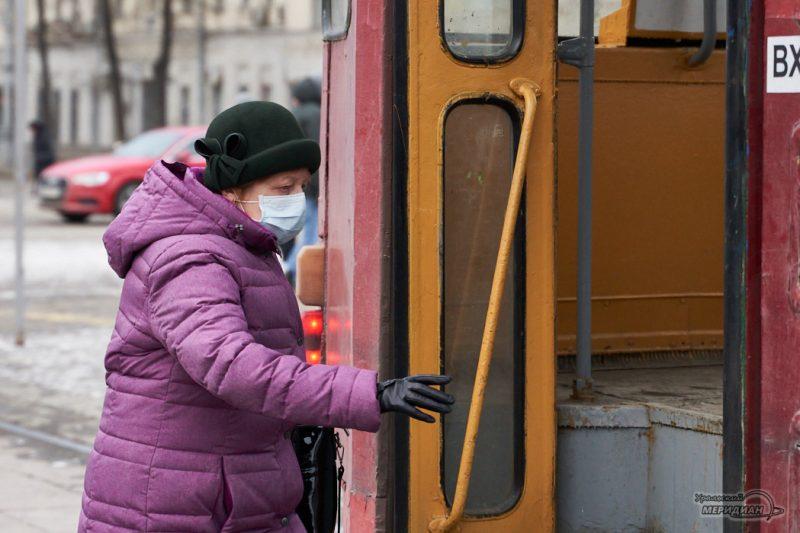 транспорт трамвай остановка люди карантин екатеринбург