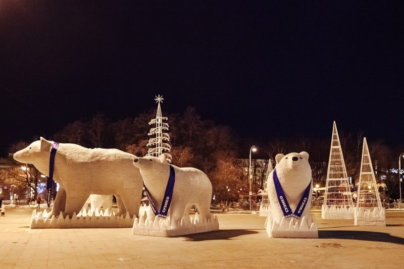 Белые медведи СУЭНКО в Тюмени