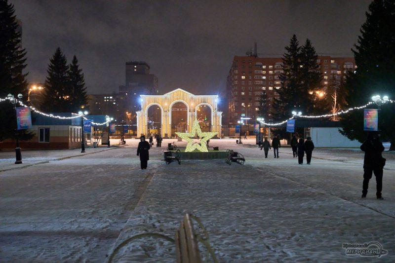 Екатеринбург ЦПКиО Новый Год иллюминация звезда