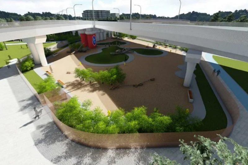 В Тюмени под развязкой на Московском тракте могут построить пешеходный парк 1