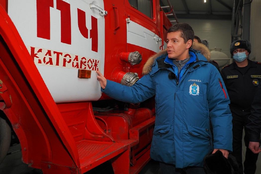 Глава Ямала Дмитрий Артюхов посетил Лабытнанги и Картавож