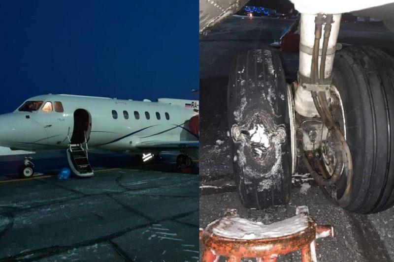При посадке в аэропорту Сургута у самолета повредилось колесо 1