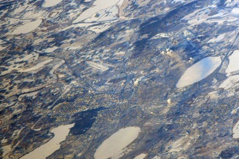 Новогодний Челябинск сфотографировал космонавт с борта МКС