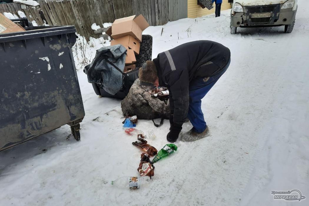 В Кургане беженец с Украины зарабатывает на жизнь, сдавая бутылки 1