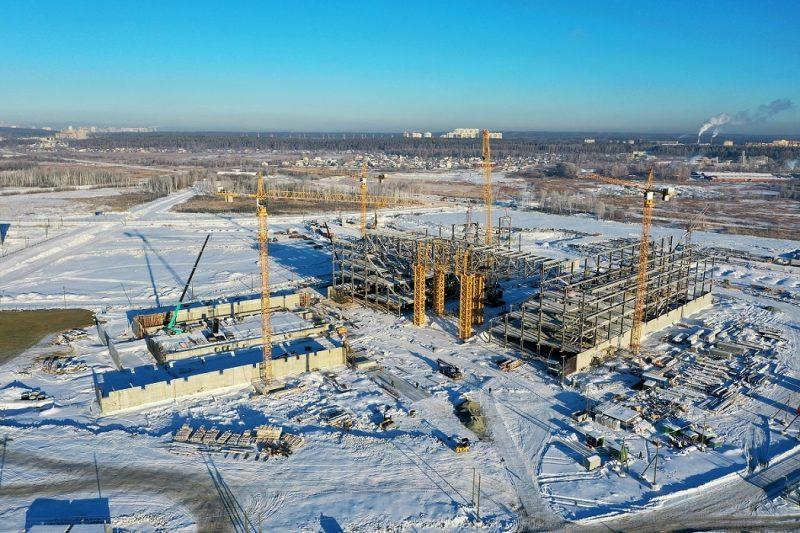 Для Деревни Универсиады-2023 начали строить Дворец водных видов спорта