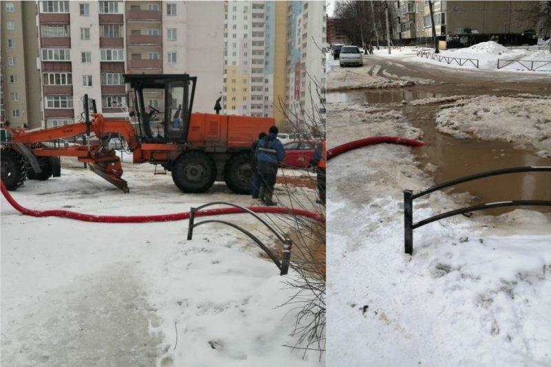 Из-за порыва чугунного водовода в Челябинска произошла авария