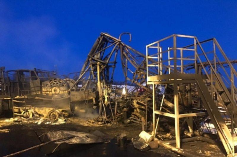 При пожаре на буровой установке в Сургутском районе погиб рабочий