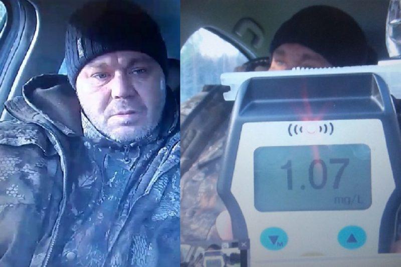 Тюменские полицейские задержали на трассе пьяного водителя большегруза 4
