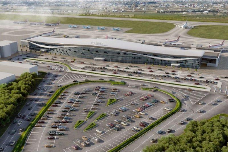 В Тюмени показали, каким будет новый терминал аэропорта «Рощино» 1