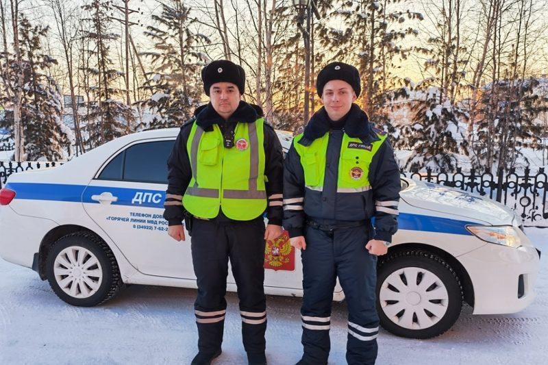 Полицейские Нового Уренгоя помогли замерзающей автоледи