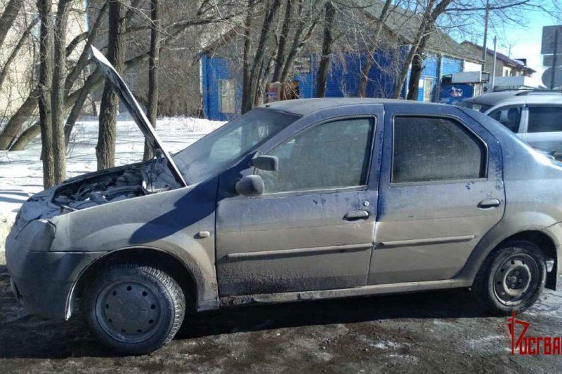 росгвардейцы потушили автомобиль